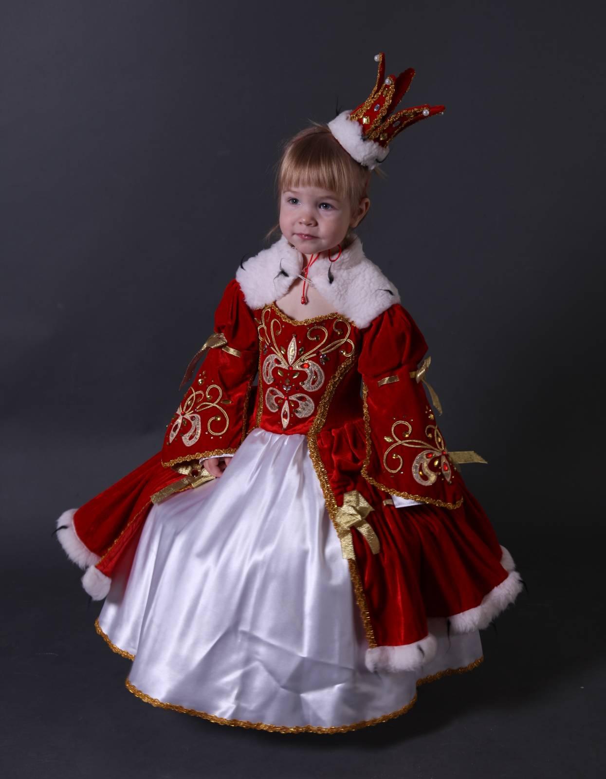 Костюм русской царицы для девочки своими руками 19