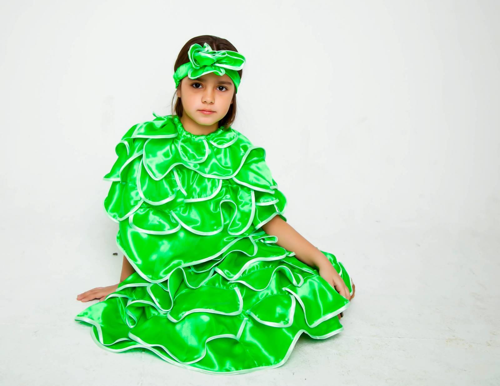 Костюм капусты для девочки своими руками из бумаги фото